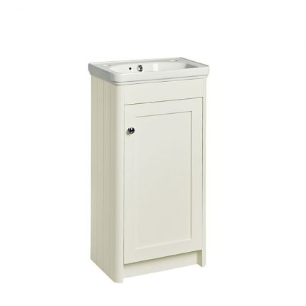 Halcyon 400mm Cloakroom Wash Unit- Natural White