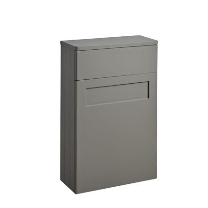Halcyon Curved Back to Wall Unit - Stone Grey