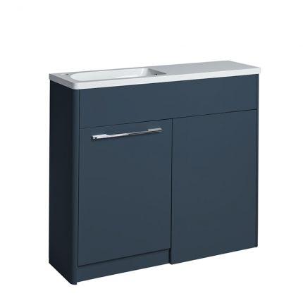Contour 1000 Left Freestanding Furniture Run - Dark Blue