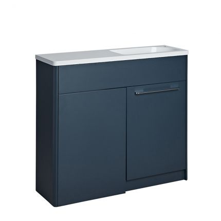 Contour 1000 Left Freestanding Furniture Run - Light Grey