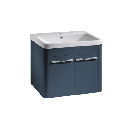 Contour 600mm Wall Mounted Unit - Dark Blue