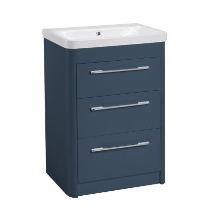 Contour Freestanding 3 Drawer Unit - Dark Blue