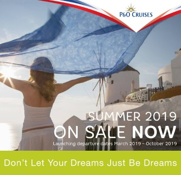 P&O Summer 2019 on sale now