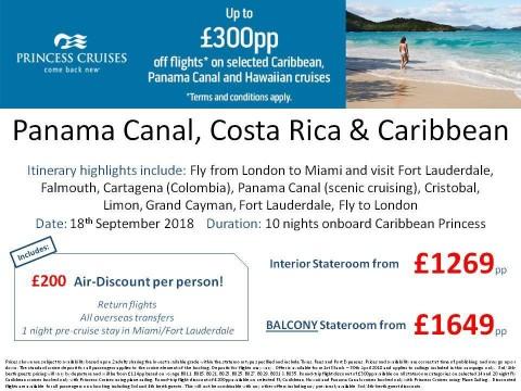 Princess Cruises Panama Canal