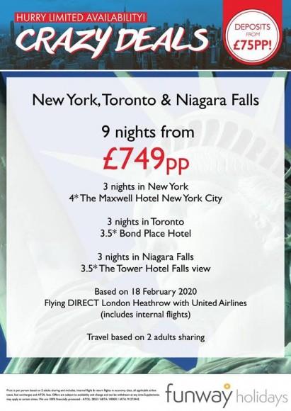 NY Toronto Niagra Falls