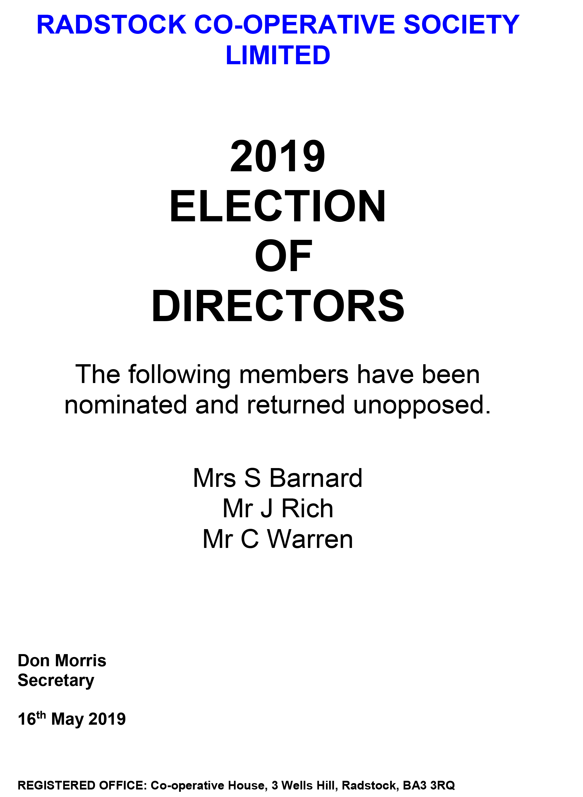 SIGN. ELECTION NOMINEE DETAILS - UNOPPOSED 2019 (002)