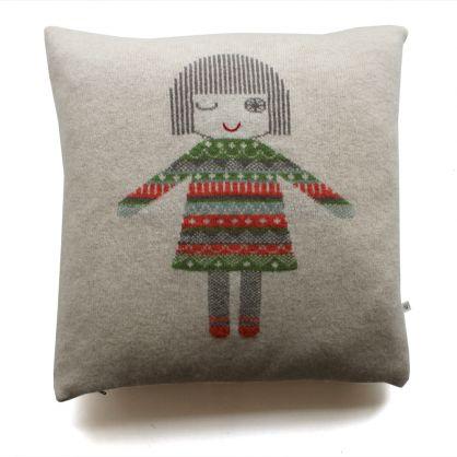 Sally Nencini Vintage Miss winkle cushion