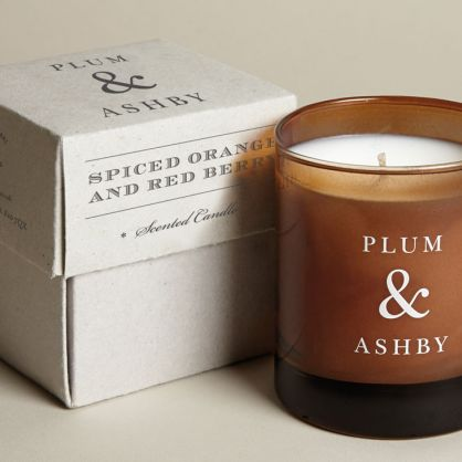 Plum & ashby spiced orange & red berry scented candle