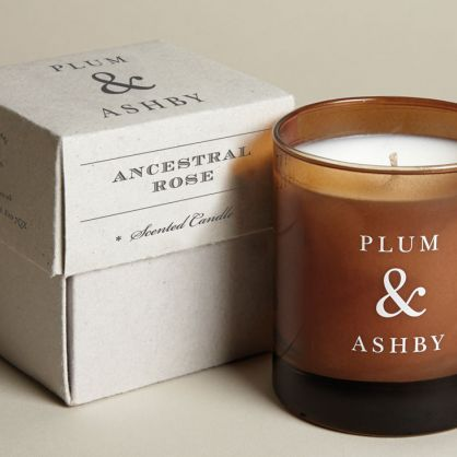 plum & ashby ancestral rose scented candle