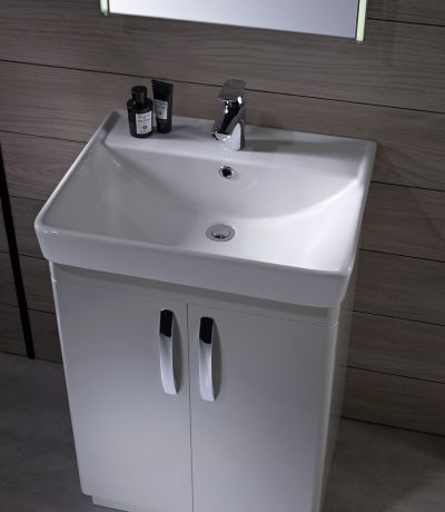 Compass 600mm Freestanding Unit Gloss White