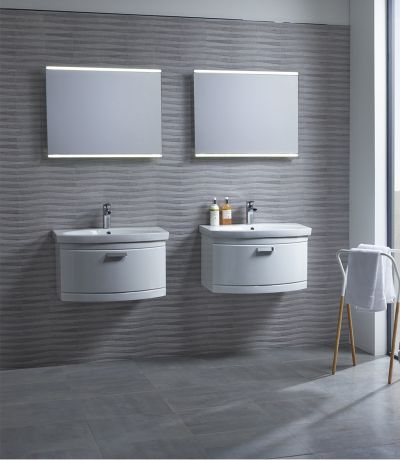 Tempo 650 Wall Mounted Unit Gloss White
