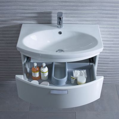 Tempo 650 Freestanding Unit Gloss White