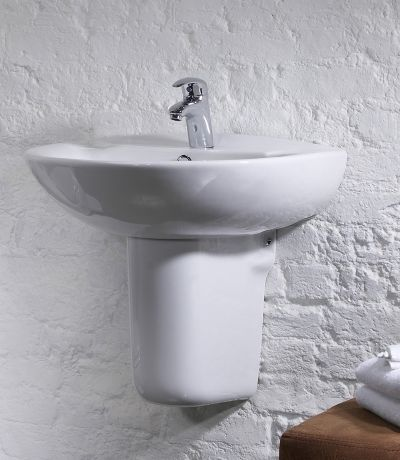 Micra 565mm Ceramic Basin & Semi Pedestal