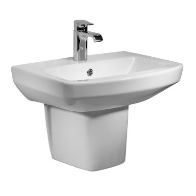 Vibe 460mm Ceramic Basin & Semi Pedestal