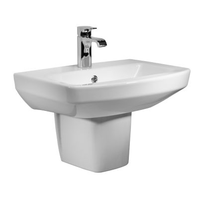 Vibe 550mm Ceramic Basin & Semi Pedestal