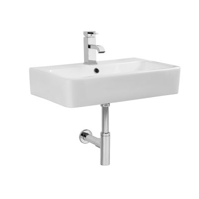 Q60 570mm Ceramic Basin & Bottle Trap