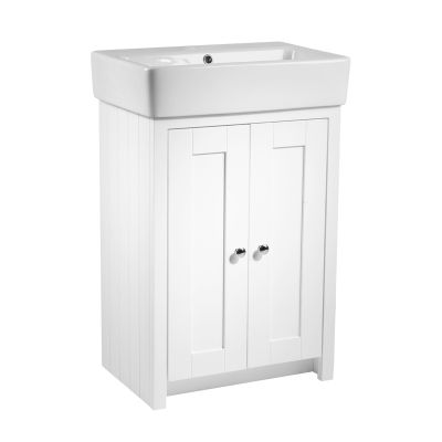 Lansdown 575 Freestanding Unit - Linen White