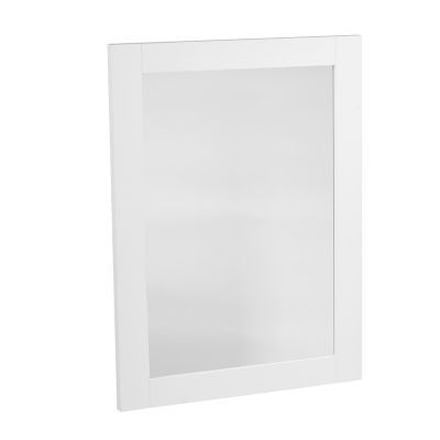 Lansdown Wooden Framed Mirror - Linen White