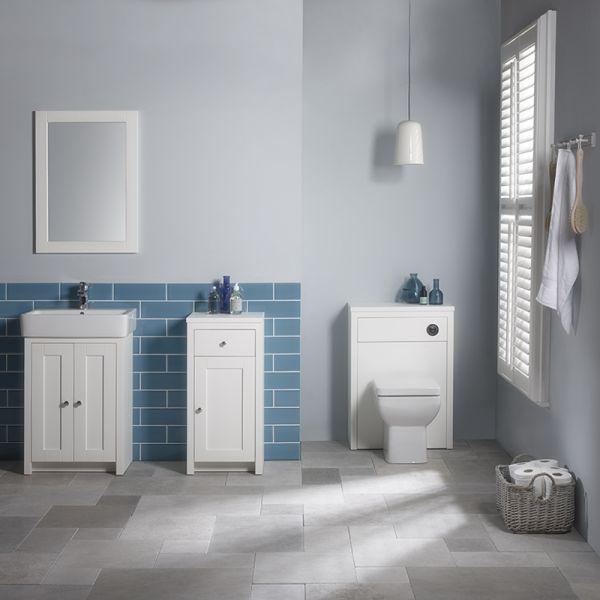 Lansdown Wooden Framed Mirror - Linen White - Tavistock Bathrooms