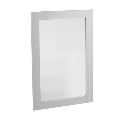 Lansdown Wooden Framed Mirror - Pebble Grey
