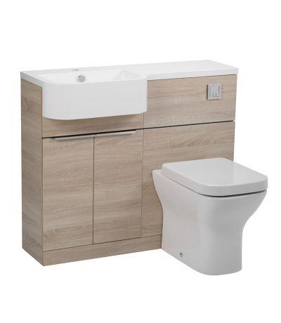 limed oak bathroom cabinet 2