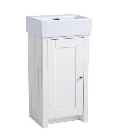 Lansdown 400 Cloakroom Unit - Linen White