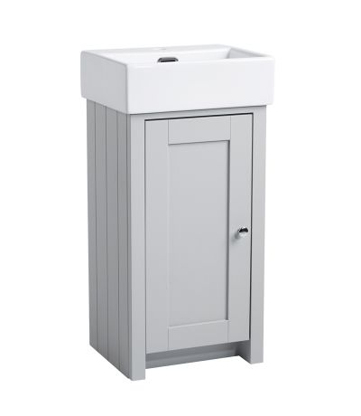 Lansdown 400 Cloakroom Unit - Pebble Grey