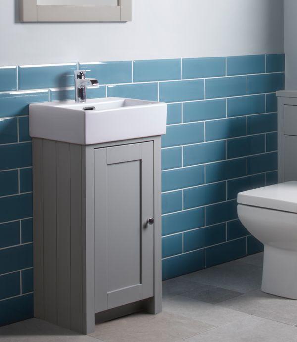 Lansdown 400 Cloakroom Unit Pebble Grey Tavistock