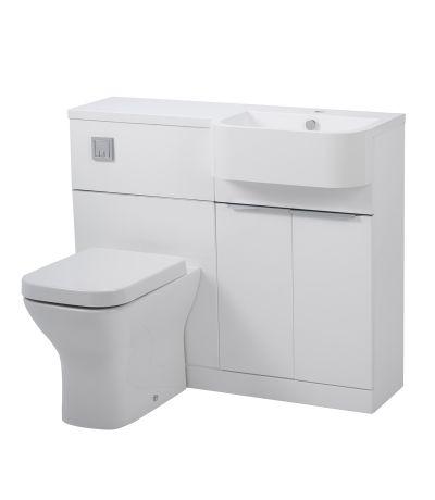 Match 1000mm Furniture Run Right - Gloss White