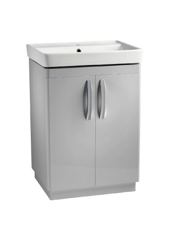 Compass 600 Freestanding Unit Gloss Light Grey