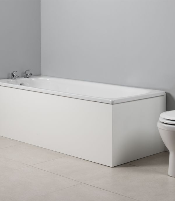 meridian 1700mm front bath panel white tavistock bathrooms. Black Bedroom Furniture Sets. Home Design Ideas