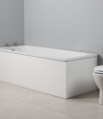Meridian 1700mm Front Bath Panel White