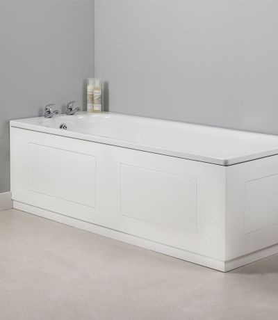 Meridian 1700mm Front Bath Panel White Routed