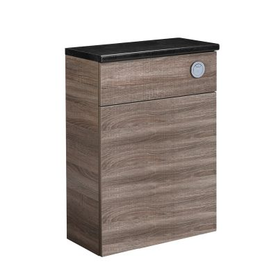 Courier 600 Back to Wall Unit - Havana Oak