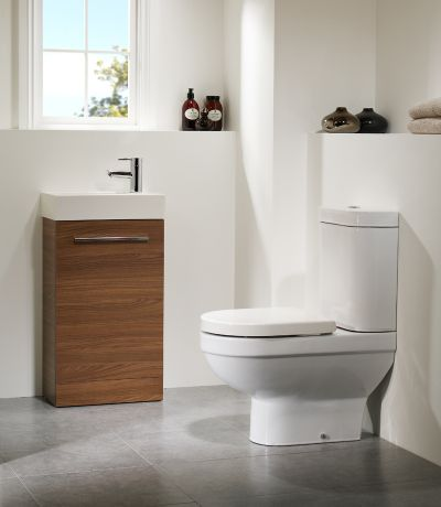 Kobe 450mm Walnut Freestanding Unit with Basin