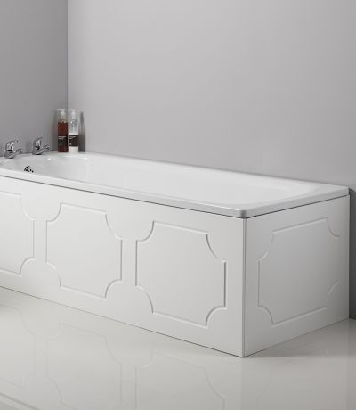 Milton 1700mm Front Bath Panel White