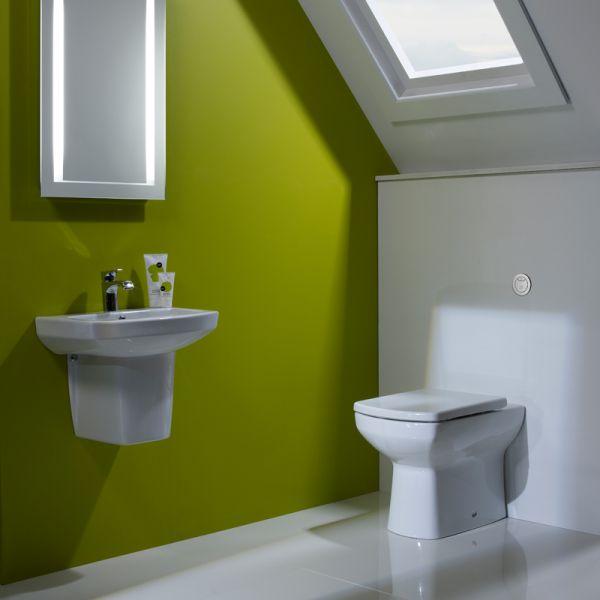 Vibe 460mm Ceramic Basin & Semi Pedestal - Tavistock Bathrooms