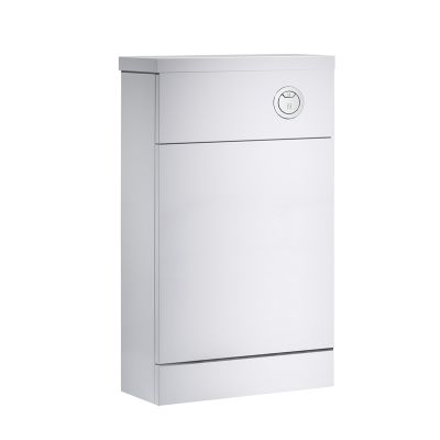 Kobe 500mm White Back to Wall Unit with Worktop
