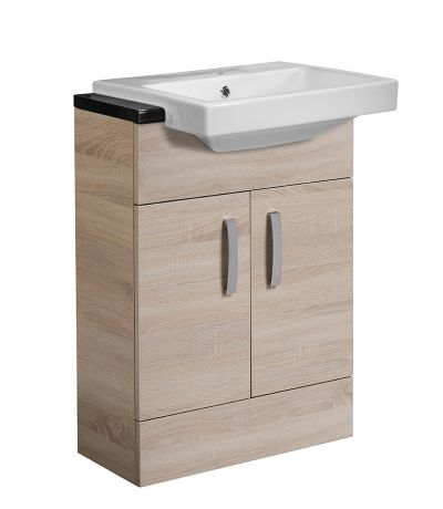 Courier 600 Semi-Countertop Unit - Oregon Oak