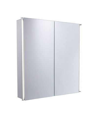 Sleek Double Door Mirror Door Cabinet