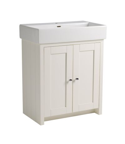 Lansdown 700 Freestanding Unit - Linen White