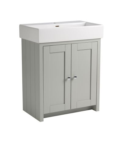 Lansdown 700 Freestanding Unit - Pebble Grey