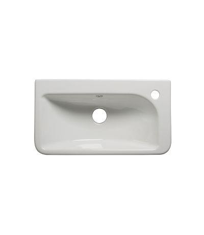Semi-countertop slim depth basin