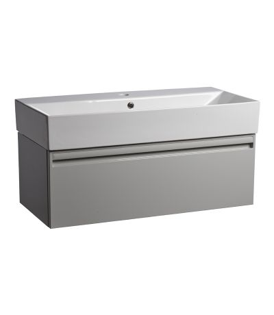 Forum 900mm Wall Mounted Unit Gloss Light Grey