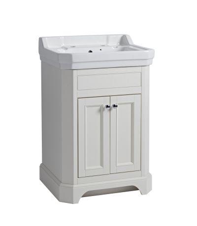 Vitoria 600 Freestanding Unit - Linen White