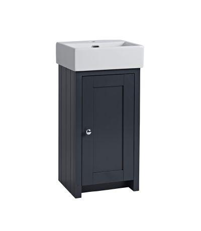 Lansdown 400 Cloakroom Unit - Matt Dark Grey