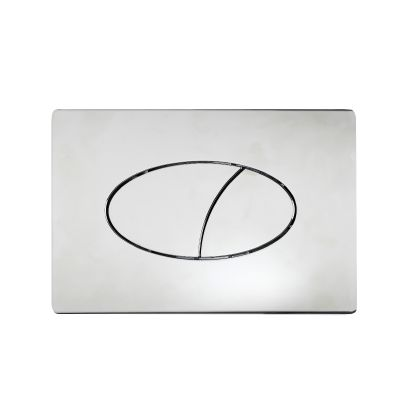 Ellipse Flush Plate Chrome