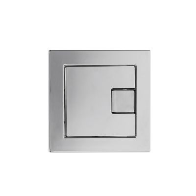 Square Flush Button - Chrome