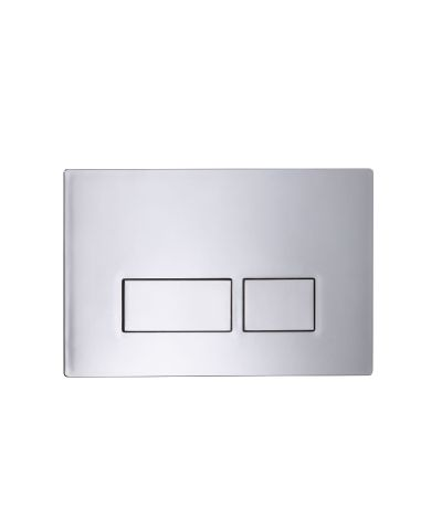 Square Flush Plate - chrome