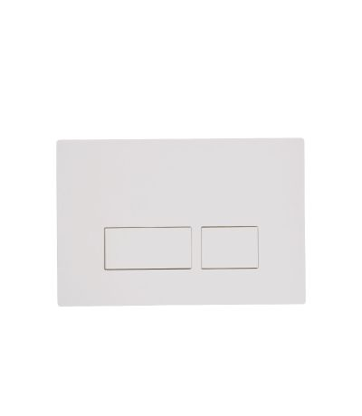 Square Flush Plate - white